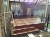 spotted gum deck glass pool fencing