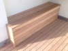 spotted gum decking seat